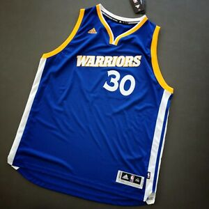 100% Authentic Stephen Curry Adidas Warriors Swingman Jersey Size 2XL Mens