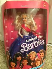 Vintage Mattel 1989 UNICEF Barbie Doll Special Edition NRFB new adult collector