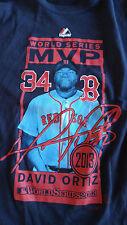 David Ortiz 2013 World Series MVP Majestic T-shirt Boston Red Sox Women's Size M