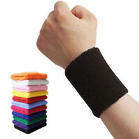 2 x Sports Wrist Sweat Bands Wristbands Unisex Fitness Sweatbands Gym Tennis