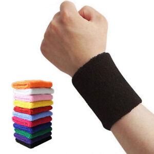 2 x Sports Wrist Sweat Bands Wristbands Games Fitness Sweatbands Gym Tennis UK