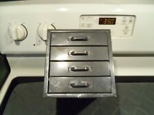 VINTAGE INDUSTRIAL 4 DRAWER SMALL PARTS CABINET ORGANIZER METAL STORAGE BOX