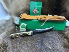 1985 vintage Puma 6393 Skinner Coltello con fodero Stag Maniglie & + Tag Nuovo di zecca BOX A2