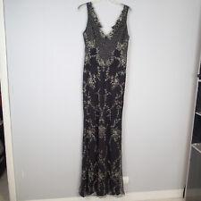 Alice & Olivia stacey bendel Embellished Lace Gown sz4 black $1695 dress beads