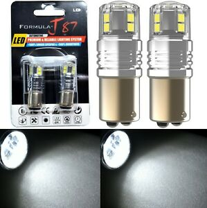 LED 15W 2057 White 5000K Two Bulbs Light Front Turn Signal Replace Upgrade Stock