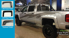Fender Flares POCKET Style Silverado 1500; 2500HD, 3500HD TEXTURED Fsh 2014-2016