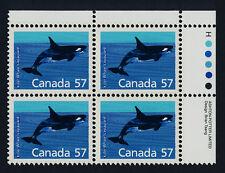 Canada 1173i TR Plate Block MNH Killer Whale