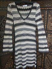 COLLECTOS! Missoni Knee-Length Long Sleeve Knit Dress V-neck Zig-Zag Motif Sz 2