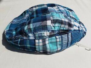 New Gymboree Boys hat Size 4T 5T Blue Safari Cabby Newsie Blue Plaid