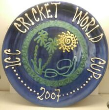 Cricket World Cup 2007 Terracotta  Charger/Plate sport memorabilia
