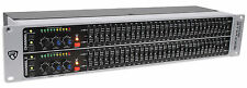 Rockville REQ231 Dual 31 Band 1/3 Octave Graphic Equalizer With Sub-Output!