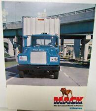 1970's Mack U Series Model Truck Dealer Sales Brochure