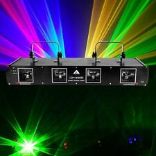 760mW 4 Beams RGBY Laser Red Green Blue Yellow Light DMX DJ Stage Auto Sound