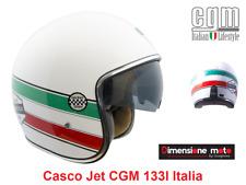 Casco JET/Bandit Visiera Scomparsa CGM 133I ITALIA Bianco Luc. Taglia XS 53/54cm