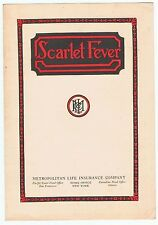 Vintage 1930s Advertising Brochure Scarlet Fever Metropolitan Life Insurance Co