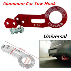Universal Aluminum Car Rear Tow Hook Ring Fit For CIVIC INTEGRA EG EK DC DC2 RED