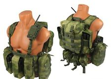 Tactical molle Modular paintball vest airsoft chest rig a-tacs fg atacs kit №2