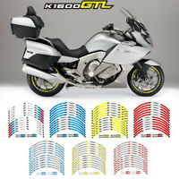 For BMW K1600GTL#style 2 Rim Decal Stripes Sticker Motorcycle accessories