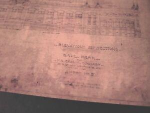 Beautiful Vintage Reproduction Blueprint 1908 Chgo Comiskey Ball Park- White Sox
