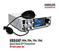 HBR4HF 20W SSB/CW HF Transceiver (40m, 20m, 15m, 10m)
