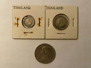 Lot of 3 Thailand Coins Early 1900s