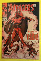 Avengers #57 - Key Issue 1st Appearance Vision MARVEL Silver Age Comic 1968🔥🔑
