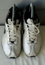 Nike Shox Girls Running Sneakers 309711-001-Metallic Silver Sz 6Y