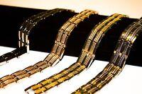 Titanium Magnetic Energy Germanium Armband Power Bracelet Health 6in1
