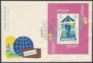 Uruguay, 1974 Tourism Min. Sheet Illustrated FDC. Special Handstamp. VERY SCARCE