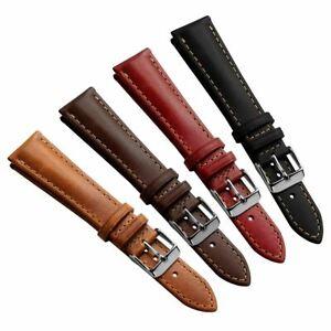Geckota® Kington Vintage Style Leather Dress Watch Strap 18mm 20mm 22mm
