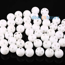 50pcs White 24mm Dia Toy Rattle Ball Noise Maker Insert Pet Baby Toy Squeaker