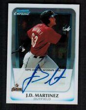 2011 Bowman Chrome J.D. MARTINEZ Rookie Certified Autograph HOT !!