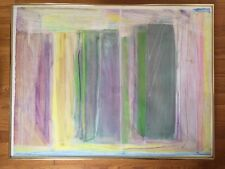 Orig Charlotte Brieff Abstract Modern Art Framed USA Mixed Media After Natkin