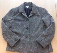 Ladies Atmosphere Black & White Herringbone Fully Lined Jacket Size 16 Excellen