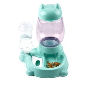 Automatic Pet Feeder Cat Dog Large Food Dispenser Drink Bowl Dish Newest Useful
