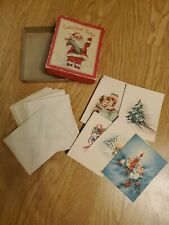 Antique / Vintage Christmas Notes Cards Unused In Box