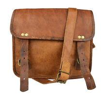 """11 """"in pelle Messenger Bag Satchel Laptop Bag Genuine Leather bag"""
