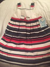 LULI & ME Red White Blue New Dress ~ Size 4 4T ~ 4th Of July Girls Fourth NWT