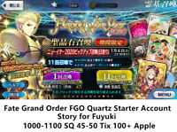 [JP][24H Instant] Fuyuki 1000+SQ Fate Grand Order FGO Quartz Starter account