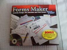 Cosmi Forms Maker & Filler (CDRS722) New PC CD-ROM Windows Jewel Case