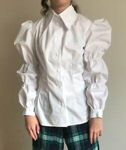 Handmade Women girls blouse shirt puffy sleeve, new, sizes 4-30
