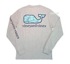 Vineyard Vines Shirt Men Long Sleeve Large Turtle Starfish Whale Gray