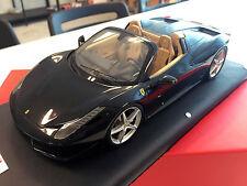 MR Collection 1/18 - Ferrari 458 Spider Spyder Nero Stellato Black FE06B