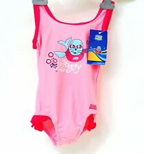 """Zoggs Girls Spring Cove Scoopback Swimsuit / Swimming Costume : 21"""" - 2-3 Years"""