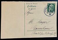 Altdeutschland Bayern Ganzsache Postkarte Mi. P 89/02 (12) gestemp. Schweinfurth