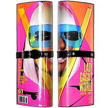 80s Pop ART PLAsTiC MAGAZINE LADY GaGa Celebrity NeWS CLUTCH Blk Patent Belt BAG