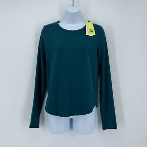 NWT All in Motion Dark Green Long Sleeve Moisture Wicking Shirt Size M
