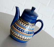 Brunzlauer Keramik Kanne Kaffeekanne Pfauenaugen Dekor 1 Liter Vintage 30er J.