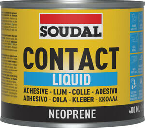 Soudal Contact  Adhesive Liquid Toluene Free Solvent Ready to use 400ml