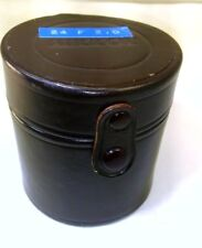 """NIKON Lens Hard Leather Storage Case 4"""" tall for 24mm f2.0 f2.8 Ai-s Nikkor 28mm"""
